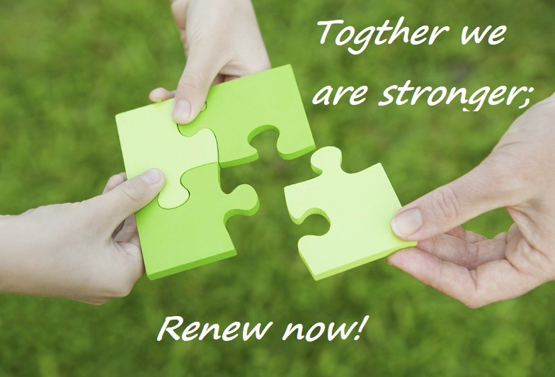 Together we are stonger: Renew Now!
