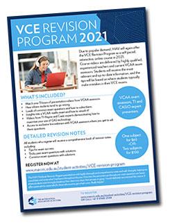 VCE revision program: Registrations now open!